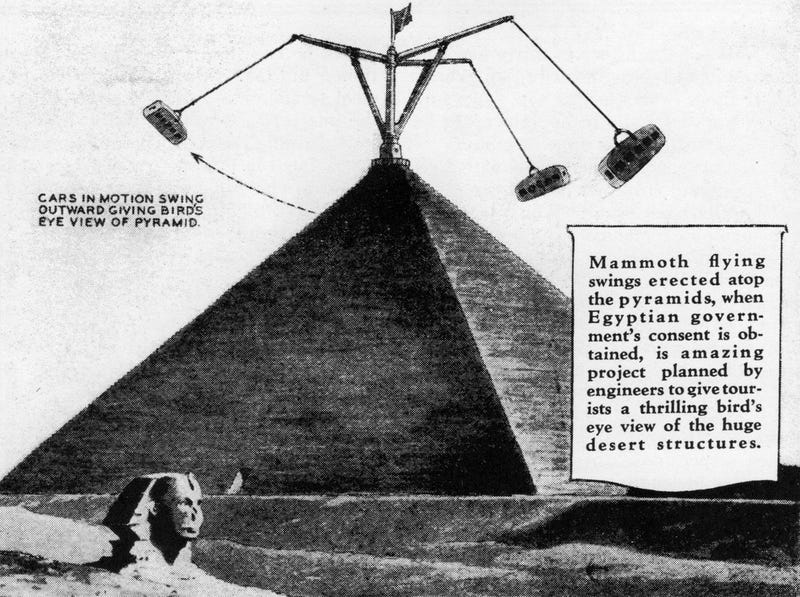 The 1931 Plan To Turn The Pyramids Into an Amusement Park