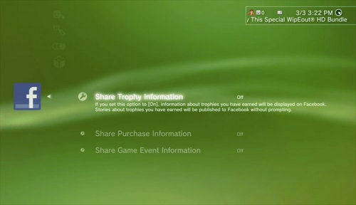 PlayStation 3 Firmware 3.10 Adds Facebook Today