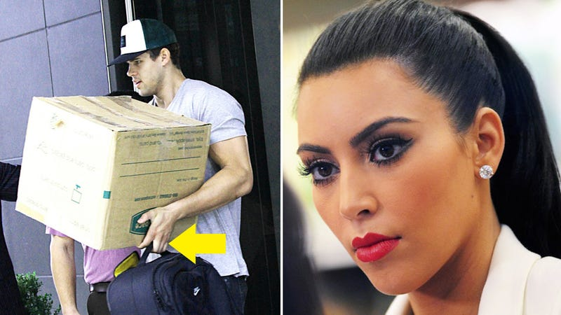 Kim Kardashian's Husband Ditches Ring and Moves Out