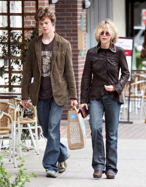 Meg Ryan & Son Make Similar Sartorial Choices