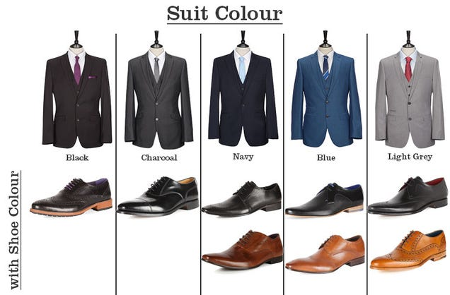 From slaters shows you what color shoes go with what color suits