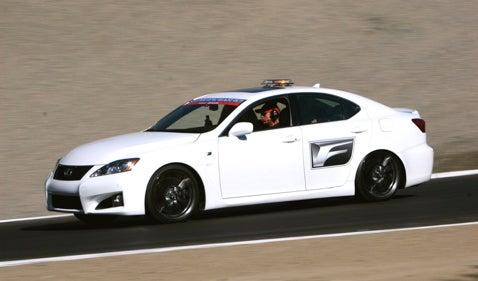 Lexus IS-F Carves Raceway Laguna Seca