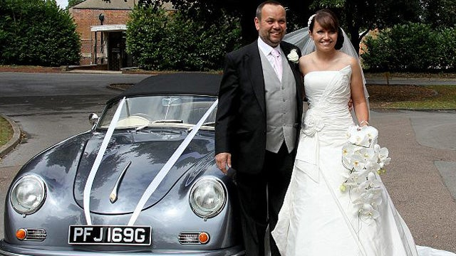 This bride built herself a Porsche from an old VW for her wedding