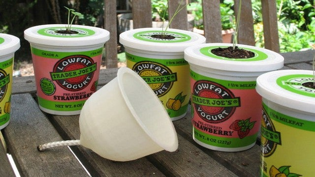 Make a Yogurt Cup Self Irrigating Planter with a 3D Printer