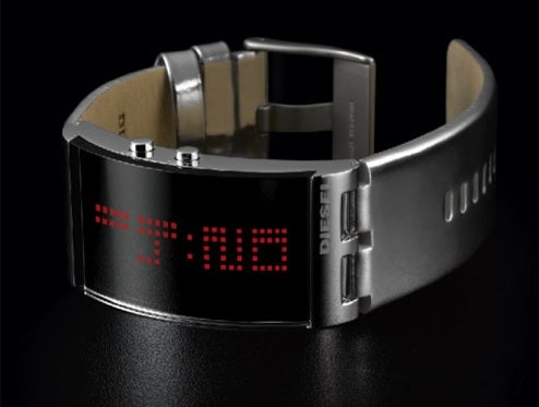 Diesel LED Watches Have Hidden Mirror Displays for Sci-Fi Chic