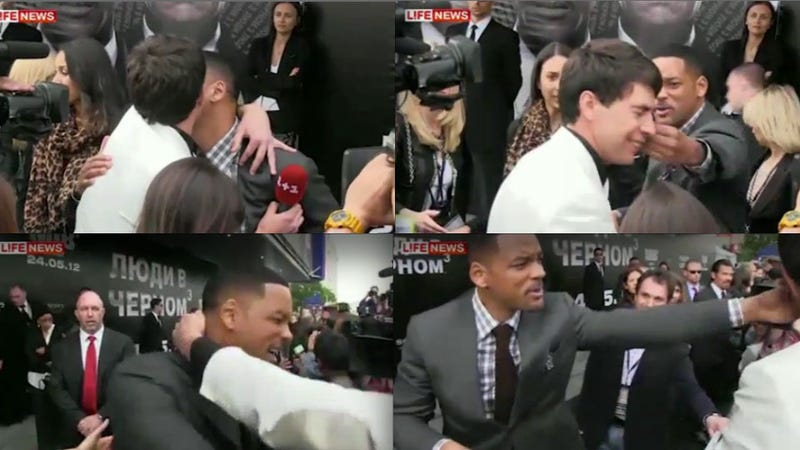 Will Smith Smacks Ukrainian Reporter in the Face After Attempted Kiss