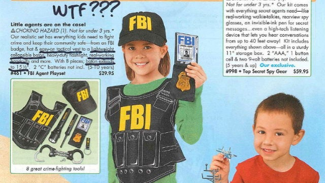 FBI Agent Playset—For Teaching Kids That the Most Important Part of Law Enforcement Involves Beatings and Restraints