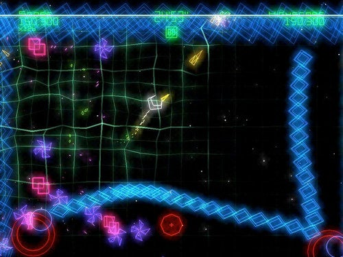 How You'll Control Geometry Wars On The iPad (And Maybe On the iPhone, Too)