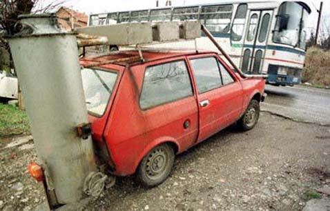 Wood-Burning Yugo Breaks Free Of Petroleum's Shackles!