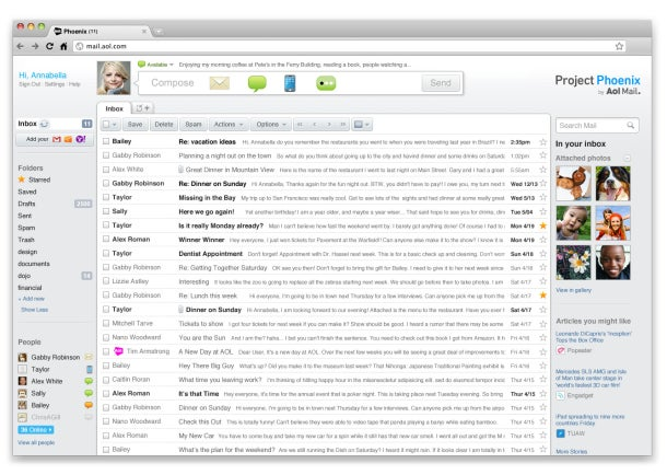 "AOL ""Project Phoenix"" Email Hub Goes Live"