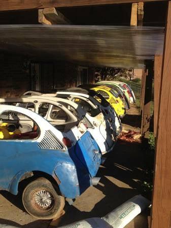 Crack Barn: 36 wheels of Subaru 360s