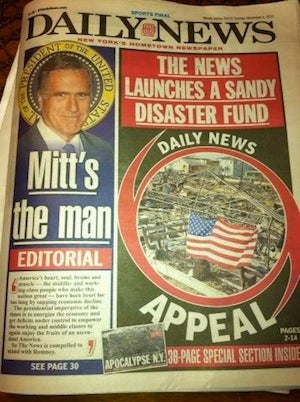 New York Daily News Endorses Romney