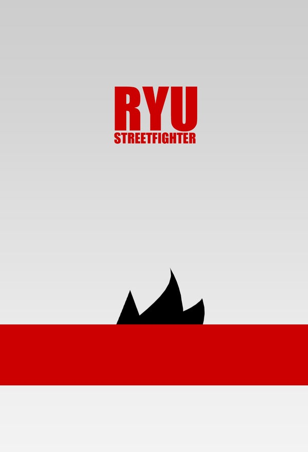 A Minimalist Perspective on Street Fighter's Characters