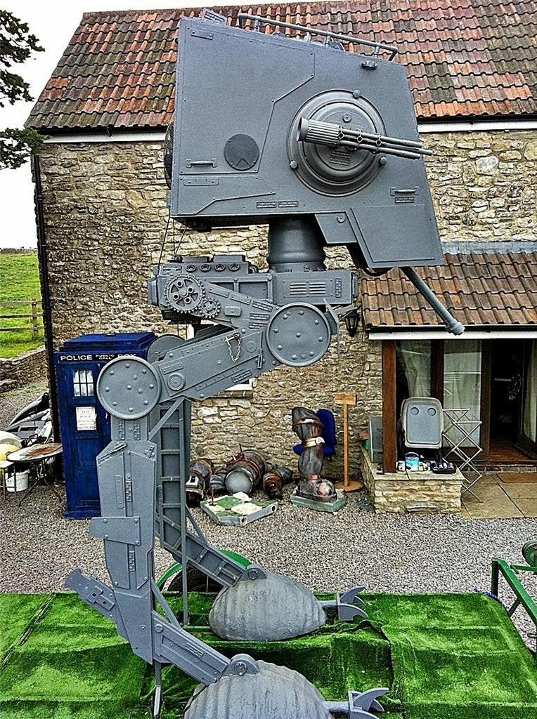 AT-ST Imperial Scout Walker Only Used On Weekends By Retired Jedi