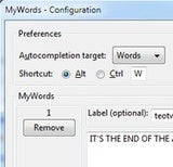 MyWords Saves Common Words and Phrases in Firefox