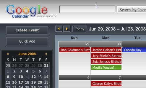 Google Calendar Redesigned Facelifts GCal