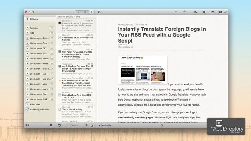 The Best News Reader for Mac