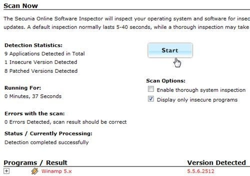 Secunia Online Scans Your PC for Insecure Software