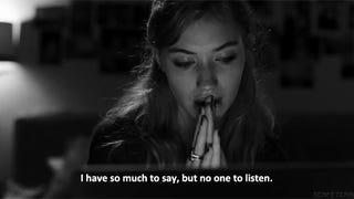 Talking to myself.