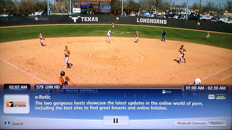 "Tonight On The Longhorn Network, It's Texas Softball Featuring ""Great Breasts And Online Fetishes"""