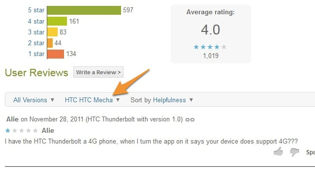 Android Market Now Lets You Filter User Reviews by Device, Star Rating, and Version Number
