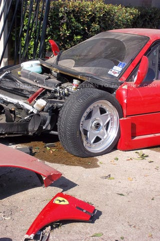 Mechanic Wrecks Out Of Town Owner S 500 000 Ferrari F40