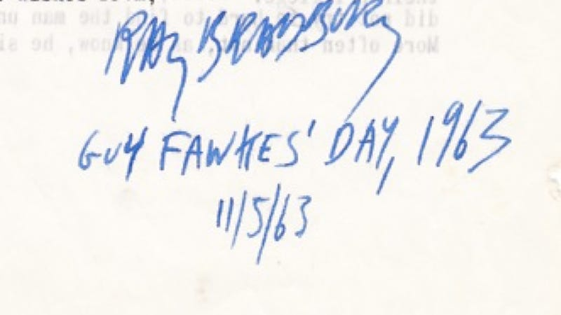 In 1963, Ray Bradbury sent this letter to explain symbolism in his work