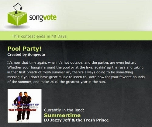 Songvote Creates Democratically Compiled Playlists