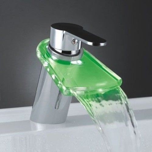 Give Your Ordinary Home an Opulent Sink With This LED Faucet