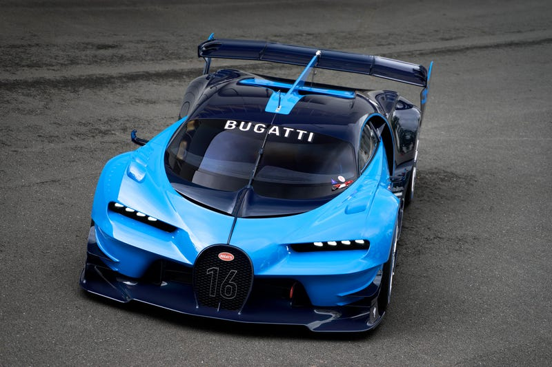 'Bugatti Vision Gran Turismo Concept: The Future Of Bugatti Looks Terrifyingly Awesome' from the web at 'http://i.kinja-img.com/gawker-media/image/upload/s--GLQ5VfAq--/c_scale,fl_progressive,q_80,w_800/1430362453111904040.jpg'