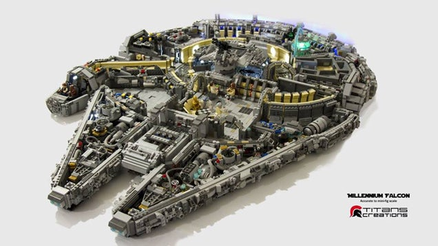 It Took 10,000 LEGO Bricks To Build The Millennium Falcon's Interior