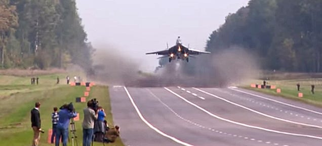 Watch These MiG-29s And Su-25s Blast Off From A Highway In Belarus