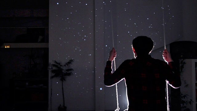 Swing Through the Stars With This Kinect-Controlled Projector