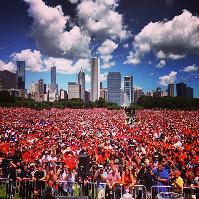 Everyone Is At The Blackhawks Parade