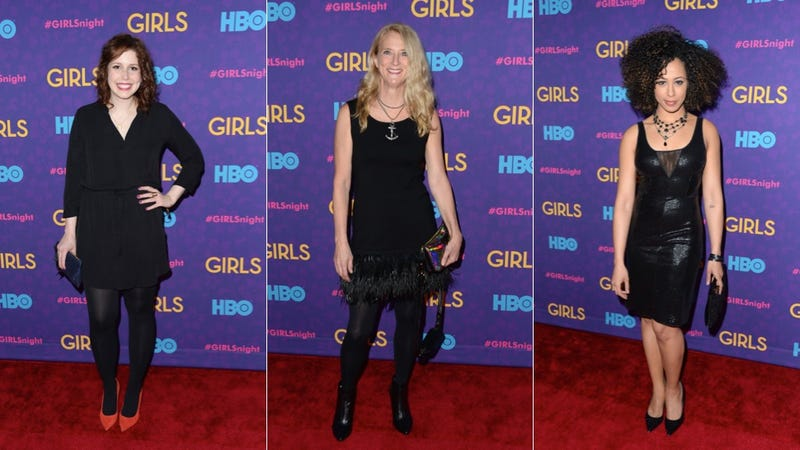 Awkward Hemlines and Slinky Slip Dresses at the Girls Premiere