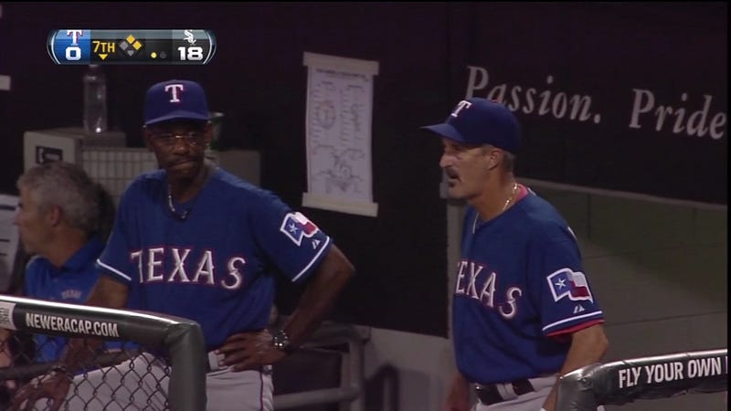Ron Washington Doesn't Like This One Bit