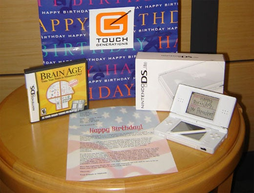Nintendo Gives DS Lite + Brain Age To President Bush For 60th Birthday