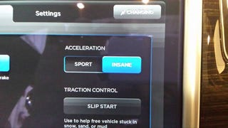 """[Yes. Musk made good on his promise. The Tesla Model S P85D does have an """"Insane"""" setting.]"""