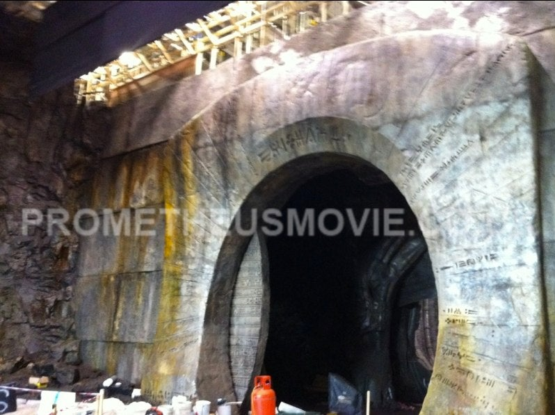 First Set Pics from Ridley Scott's Prometheus: Is this your new gritty alien underworld?
