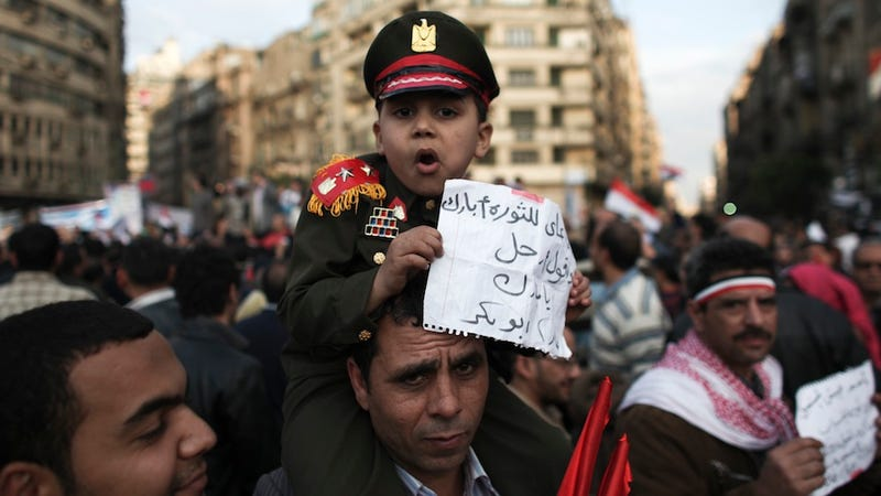 Egyptian Military Backs Mubarak