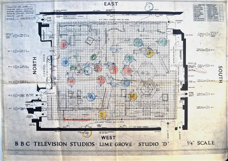 The Original Floor Plans From The Very First Doctor Who Episode