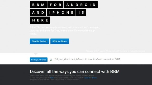 Blackberry's BBM App Page Mistakenly Went Live, Here's What It Said