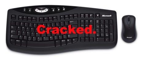 Microsoft Wireless Optical Desktop Keyboards Cracked for Coworker Espionage