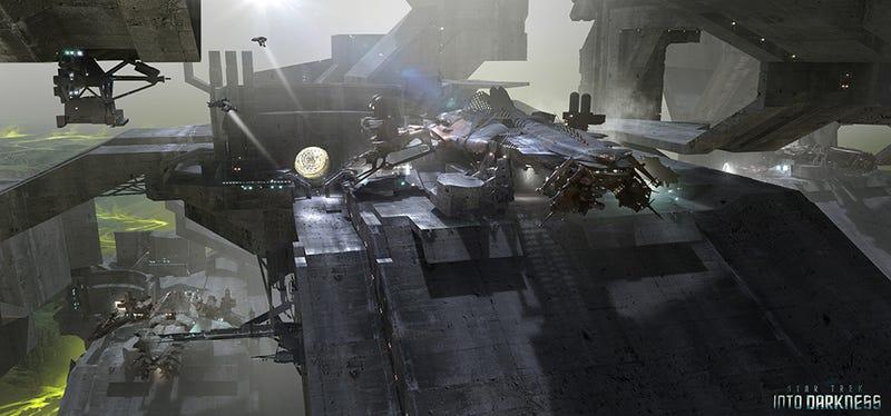 Stunning Star Trek Into Darkness concept art shows starships at war