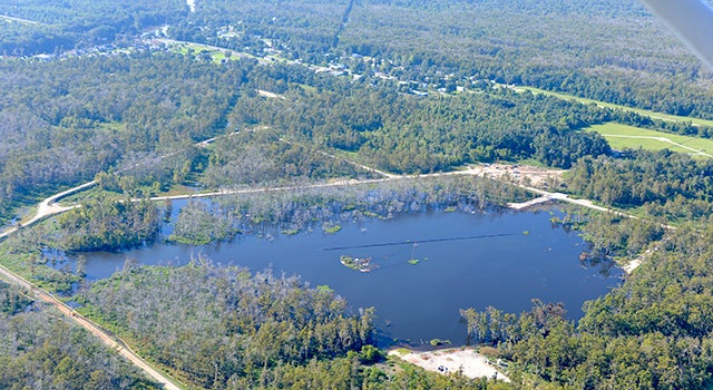 Louisiana's giant sinkhole showed up in radar data before imploding