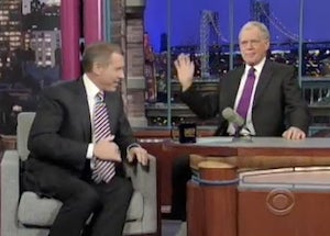 David Letterman Yells at Brian Williams for Appearing on The Tonight Show