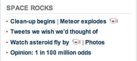 CNN's '11 Meteor Tweets We Wish We'd Thought Of' Bums Me Out