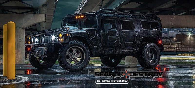 What It's Like To Drive A Hummer H1 Through A Flooded City