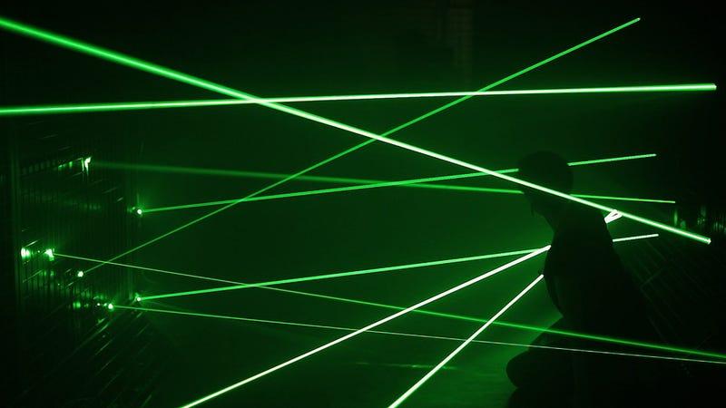 A Laser-Filled Room Lets You Indulge Your Entrapment Fantasies