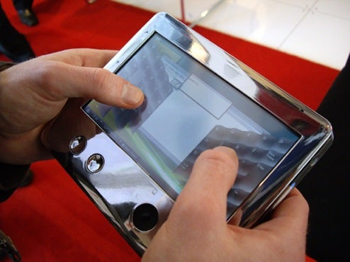 Toshiba Demos UMPC Hand-Held Tablet Prototype, But Thinks it's Too Small